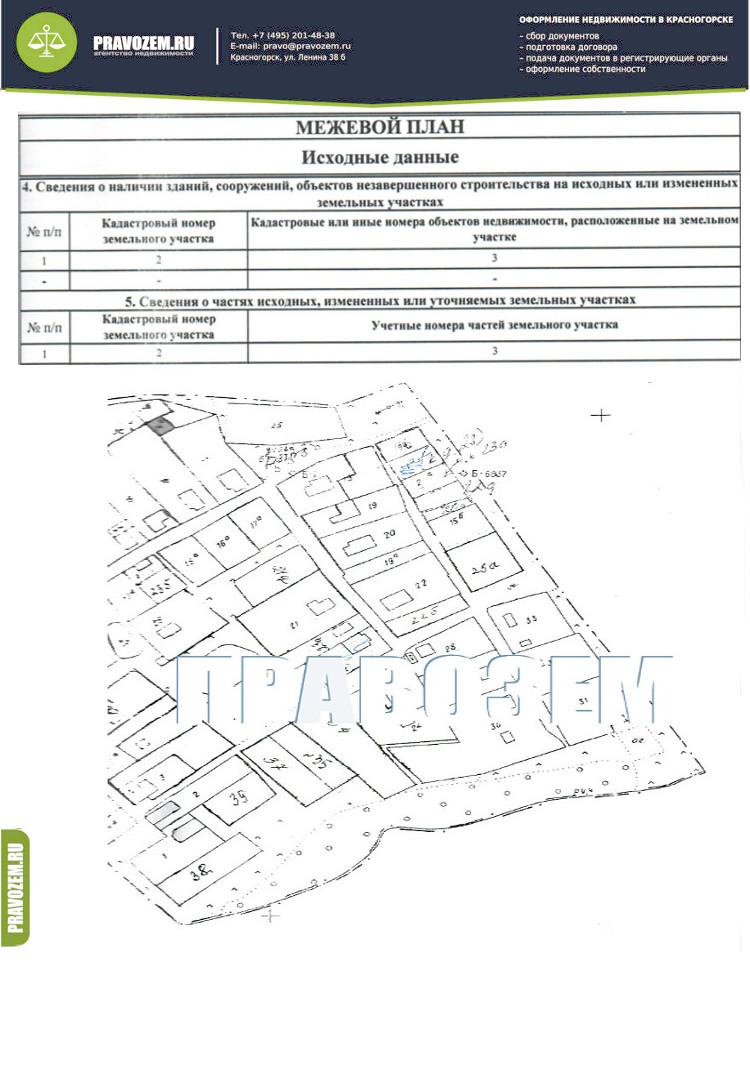 план съемка местности