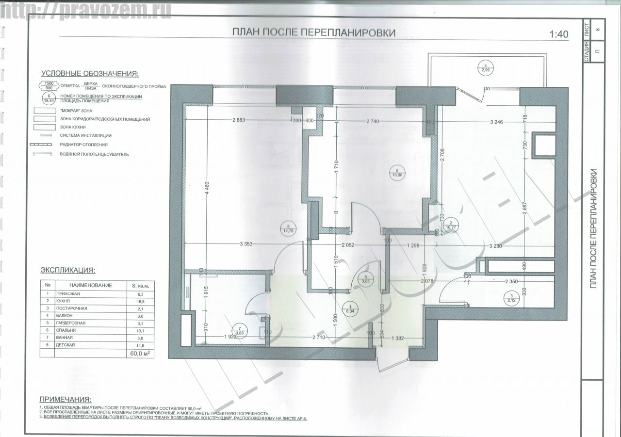 Разработка проекта и получение разрешения на перепланировку квартиры в Истре