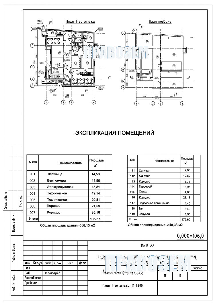 Техническая выписка на здание (дом)