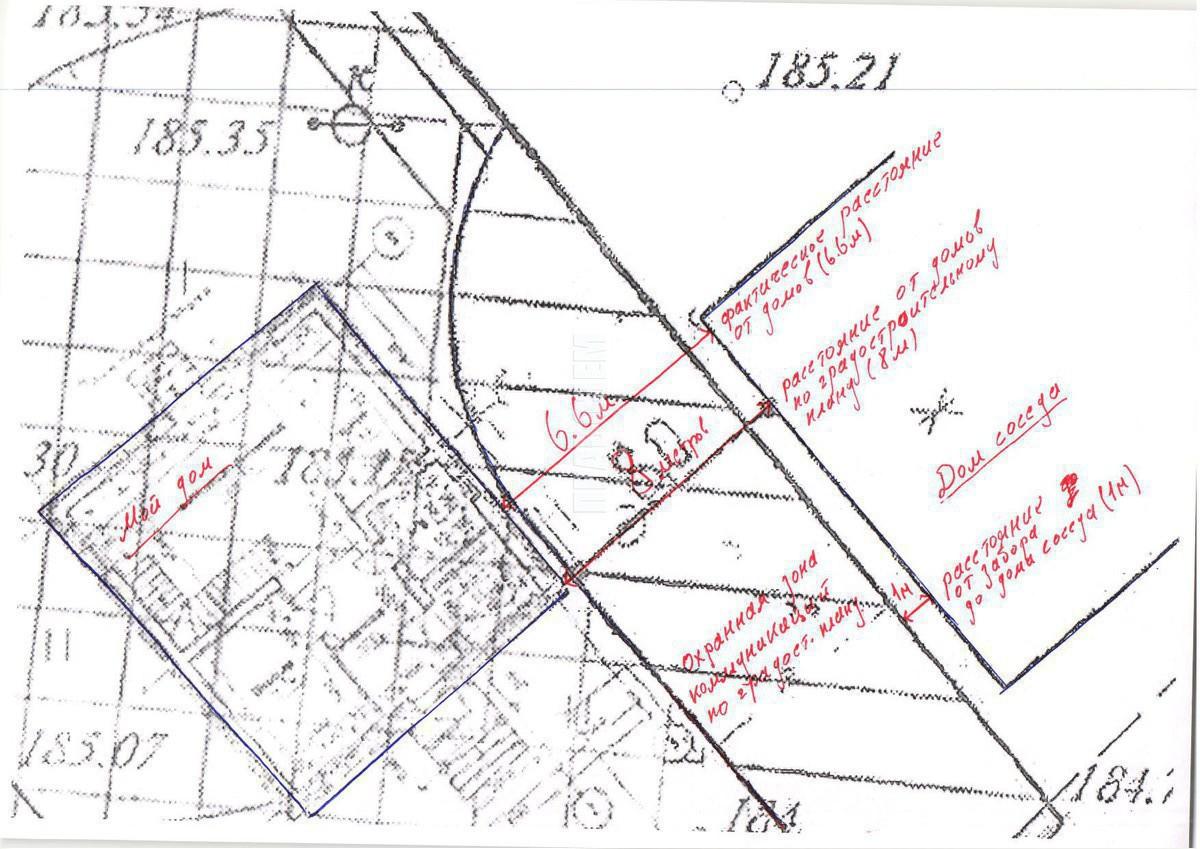 схема распределения участка