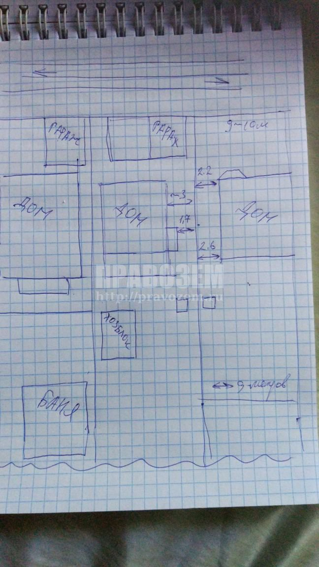 Схема участка с домами