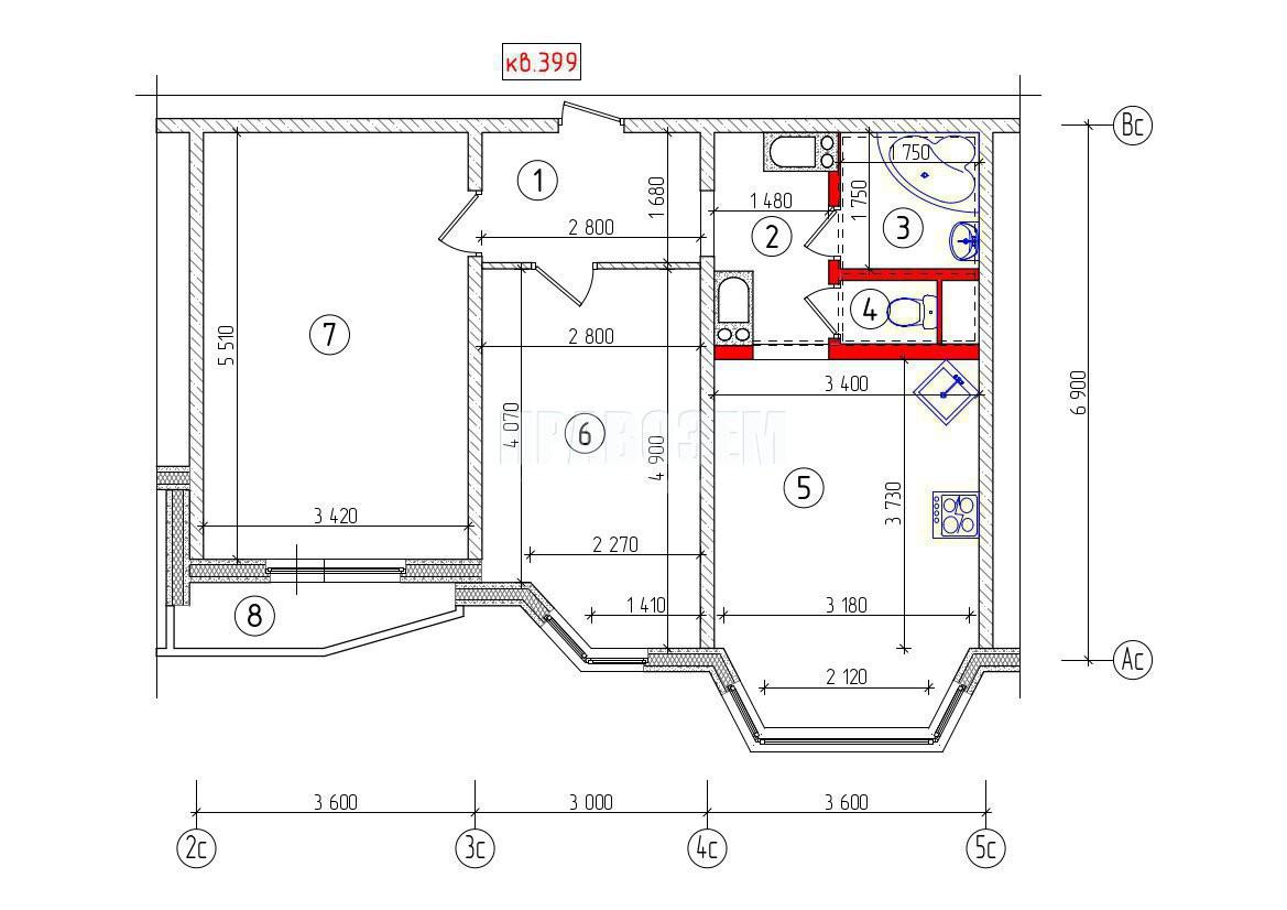 Нужна помощь в согласовании перепланировки квартиры А/Н Правозем