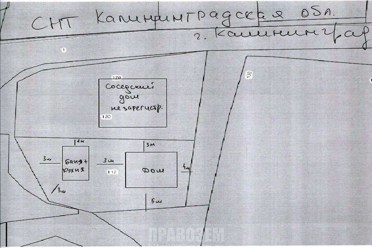 Расположение домов на участках А/Н Правозем