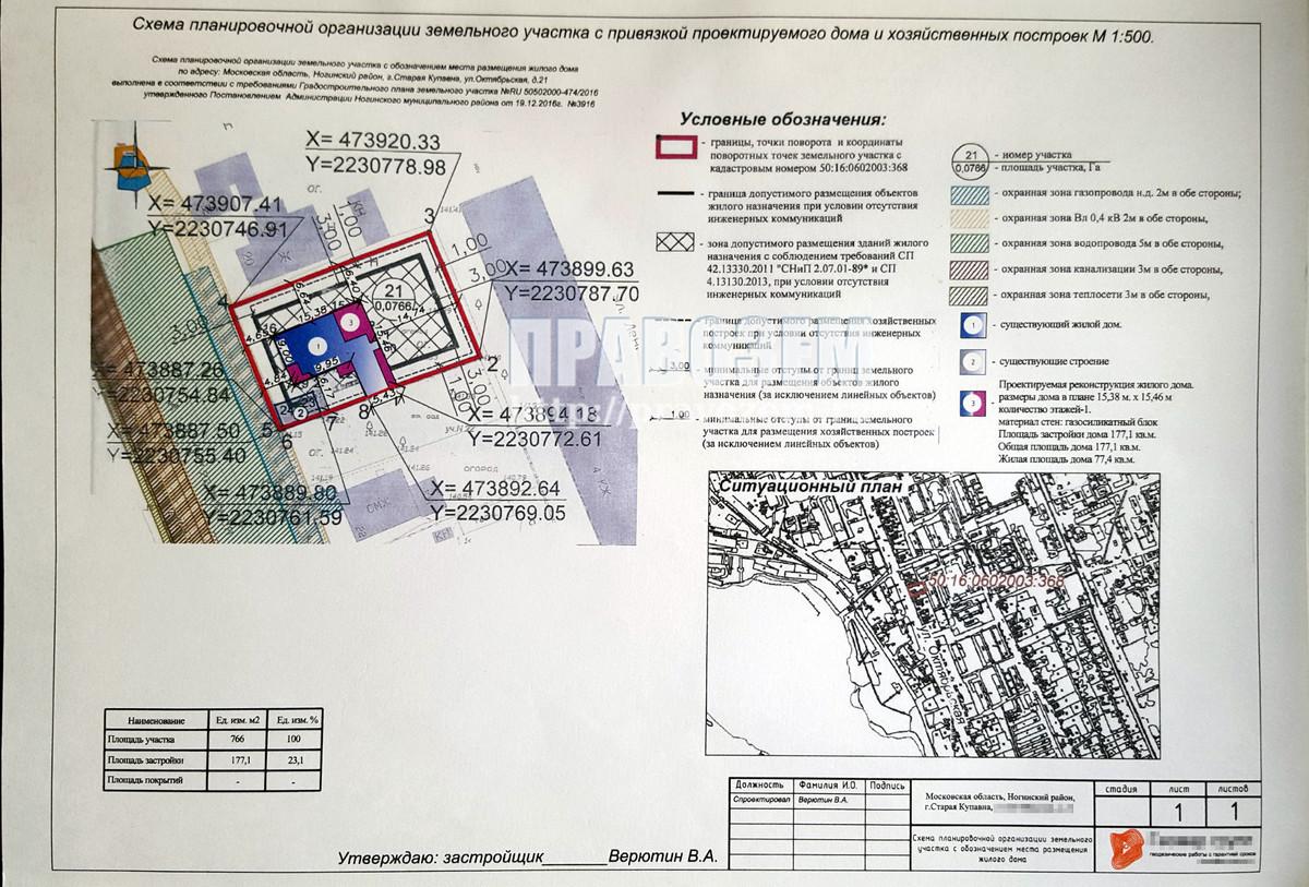 Отказ в реконструкции: дом находится за границей допустимого размещения объектов жилого назначения А/Н Правозем