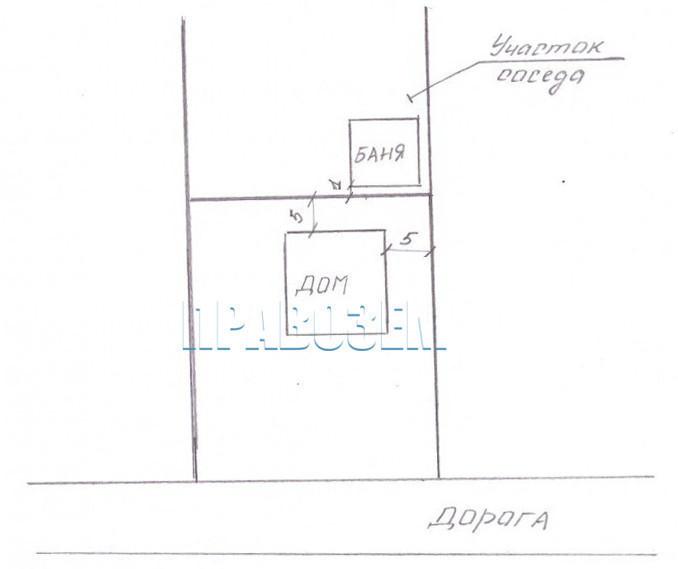 Расстояние между домом и баней А/Н Правозем