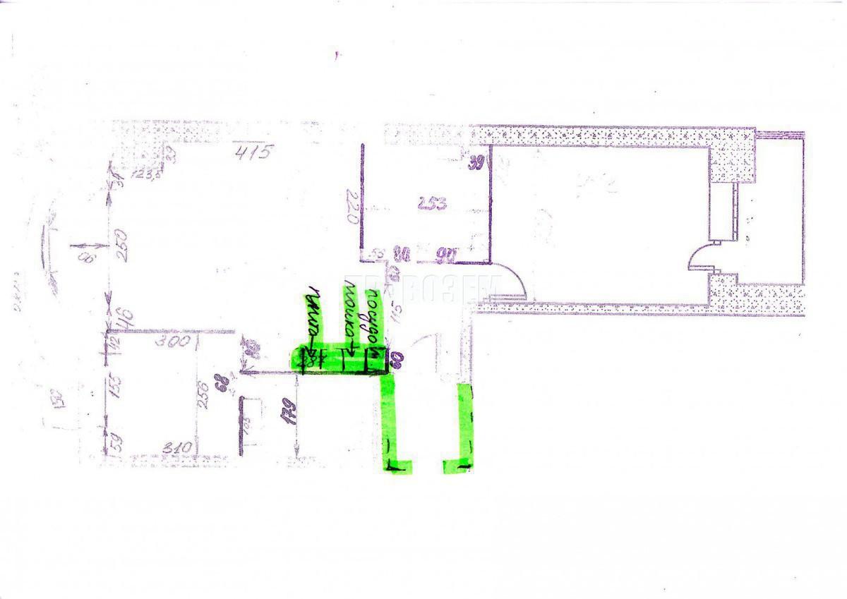 Узаконить перепланировку двухкомнатной квартиры в Павшинской пойме А/Н Правозем