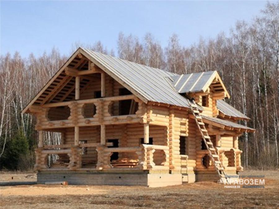строительство деревянного дома на землях ИЖС