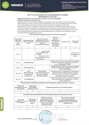 план границ земельного участка